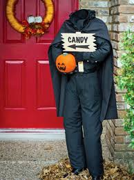 My 14 Inexpensive Projects for Halloween: 3.Headless Door Greeter ...