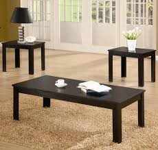 coffee table 3 piece table set of coffee table books black 3 set square shape on