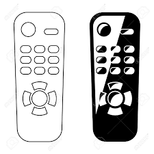 remote control drawing. remote control outline and silhouette stock vector - 36107022 drawing