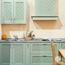 pattern furniture. Moroccan And European Design Painted On Furniture Kitchen Cabinets - Trellis Stencils Royal Pattern S