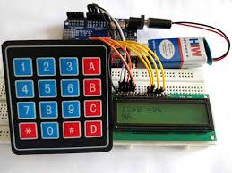 arduino calculator using 4x4 keypad in action