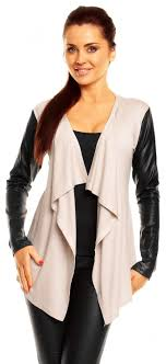 zeta ville women 039 s pu leather sleeve