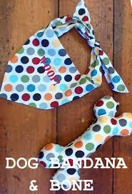 items similar to dog bandana and toy bone sewing pattern on etsy