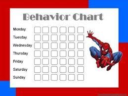 Spiderman Reward Chart Spiderman Behavior Chart To Help My Little Man Reward