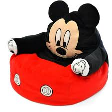 mickey mouse chair bean bag plush toy kid toddler bedroom furniture disney couch 1 of 2only 1 available
