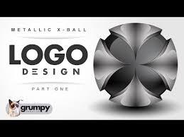 Professional Vector 3d Mettallic X Globe Logo Design Using Adobe