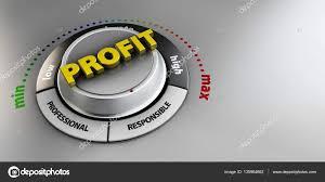 Illustration Of Profit Knob Button Switch High Confidence Level