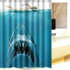 shark pattern waterproof polyester shower curtain bathroom decor with hooks giraffe riding shark shower curtain uk