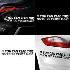 Word Cars 2019 Car Styling Word Car Sticker For Door Window Laptop Decal Cars