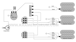 kramer wiring diagrams welcome to the kramer forum 1989 stagemaster deluxe hss seymour duncan pickups 5 way coil tap 1 vol
