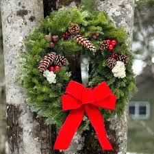 large outdoor wreath wreaths bows large outdoor wreath