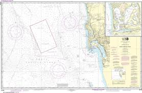 Noaa Nautical Chart 18765 Approaches To San Diego Bay Mission Bay