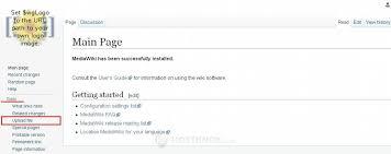 Wiki Upload File Hostknox Mediawiki File Uploads And Images Tutorial