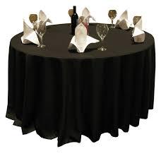 harmony 90 round polyspun table cloths black