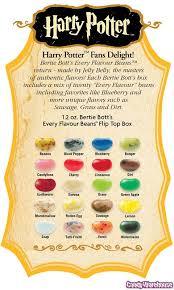 Harry Potter Bertie Botts Jelly Beans Flavor Guide