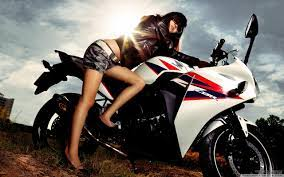 View Of Motorcycle Girl Wallpaper ...