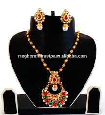 Polki Pendant Set Designs 2015 South Indian Kundan Polki Pendant Set Antique Gold Plated Polki Pendant Set Wholesale Kundan Pendant Set Buy Indian Bridal Pearl Necklace