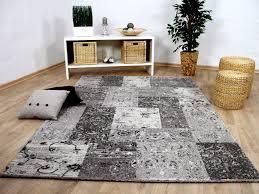 Designer Teppich Sevilla Modern Grau Karo Barock Teppiche ...