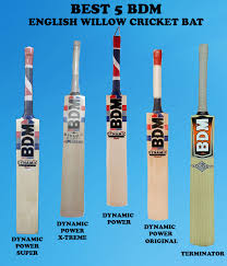 Best 5 Bdm English Willow Cricket Bats For Professional