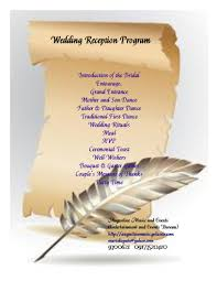 Wedding Program Inclusions Wedding Program Inclusions Resume Template Sample 4
