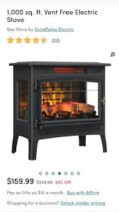 duraflame fireplace stove w 3d flame effect new home garden in las vegas nv offerup