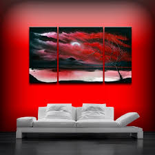 red canvas wall art primary red acrylic on canvas art