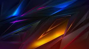 colorful dark abstract polygon 3d 4k