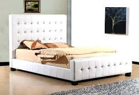 zinus deluxe faux leather upholstered platform bed queen black white home improvement engag