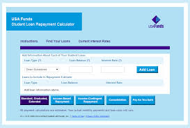 Usa Funds Student Loan Repayment Calculator Investing Budgeting