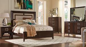 Marvelous Sofia Vergara Santa Clarita Dark Cherry 5 Pc Queen Bedroom With Upholstered  Inset