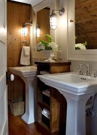 industrial lighting bathroom. other small spaces have their own issues such as this bathroom which is a great example of elegance on scale thereu0027s no room for boxstyle vanity industrial lighting