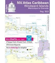 Chart Of Caribbean Islands Region 12 3 Windward Islands Martinique To Grenada 2018 2019