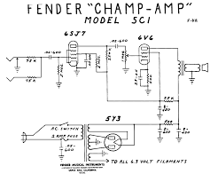 champ amp schematic informatique électronique fender champ tube amp schematic model