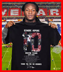 Find the latest in deandre hopkins merchandise and memorabilia, or check out the rest of our gear for the whole family. Deandre Hopkins Houston Texans Thank You For The Memories Shirt