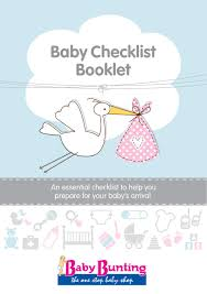 Baby Check List Baby Checklist Booklet Baby Bunting 2015 By Grand