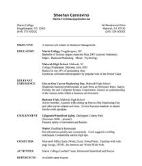 Internships On Resume Free Resume Templates 2018
