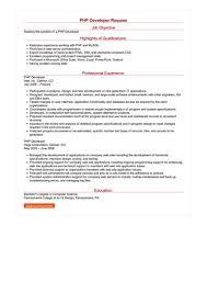 Php Developer Resume Php Developer Resume Great Sample Resume