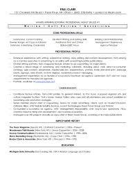 Sample Functional Resume Executive Skills