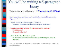 essential question essential question what were the success  you will be writing a 5 paragraph essay the question you will answer  who