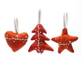 Weihnachten Baumschmuck Stoff Weihnachtshänger Herzbaum