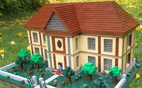 Real Life Lego House Lego Minecraft Herobrines Mansion Youtube