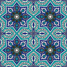 Arabesque Pattern Amazing Arabesque Seamless Pattern In Blue And Turquoise By Paulrommer
