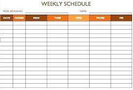 Hourly Planner Template Excel One Week Schedule Template Excel Hourly Schedule Template Weekly