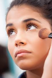 makeup start by applying a few dots of concealer under the eyes on any blemishes and on any areas characterized by redness or discoloration when you use