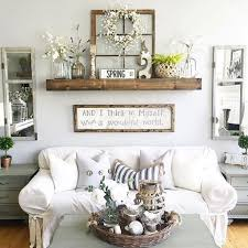 spring living room wall rustic wood floating shelf white sofa slipcover unique table grey painted cabinet fra mirror design ideas reclai furniture arrow