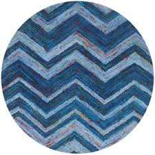 nantucket blue multi 4 ft x 4 ft round area rug