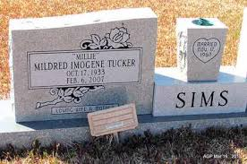 "SIMS, MILDRED IMOGENE ""MILLIE"" - Cleveland County, Arkansas 