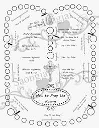 Rosary Coloring Page Catholic Rosary Coloring Pages Printable