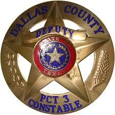 Dallas Tx County Constable Badge Circle Star Police Badges