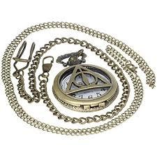 roman numerals harry potter ly hallows lord voldemort bronze pocket watch brass antique caseh 1 pc necklace 1 pc key clip quartz pendant watch